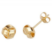 9ct Gold flat loops Stud Earrings
